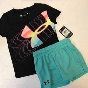 UA Girl 2 pieces Short Sleeves Tee and Short Set 4